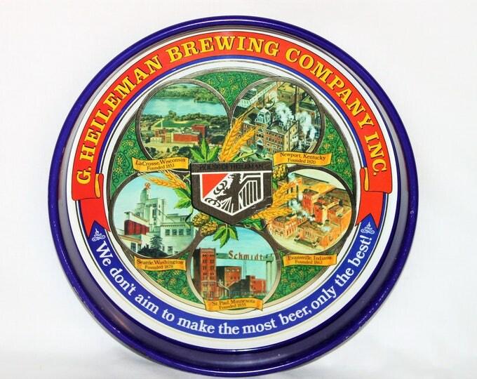 Vintage 1977 G. Heileman Brewing Company Commemorative Beer Tray, Serving Tray