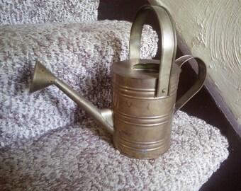 Vintage Brass Watering Can - Brass Sprinkling Can - Vintage Garden Decor