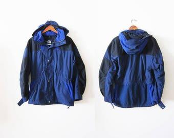 90s Windbreaker - The North Face Rage Windbreaker - 90s Hip Hop Clothing - Colorblock Windbreaker - Mens Windbreaker S - Camping Jacket