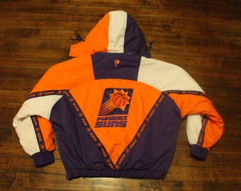 Phoenix Suns winter jacket vintage NBA basketball puffy coat pro player XL