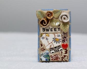 SWEET, mosaic wall art, gift, mosaic, mosaic art