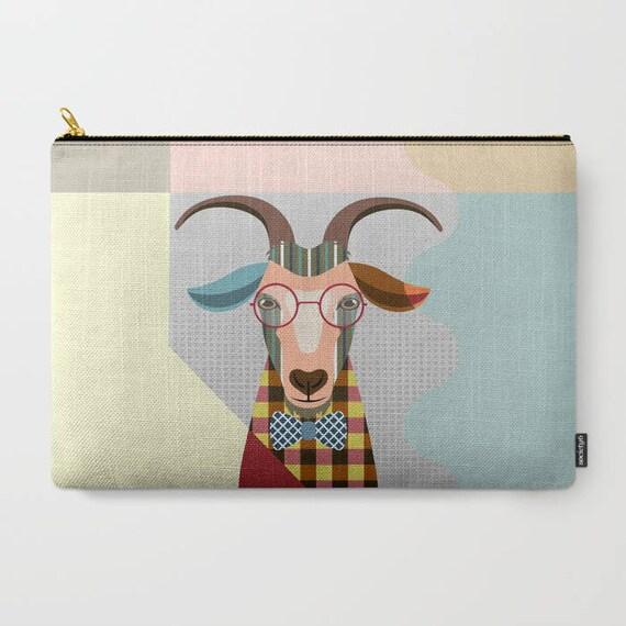 Goat Coin Purse, Goat Pouch, Goat Wallet, Goat Gifts,  Zipper Bag Purse, Goat Zipper Pouch, Goat Lovers Gift, Goat Purse