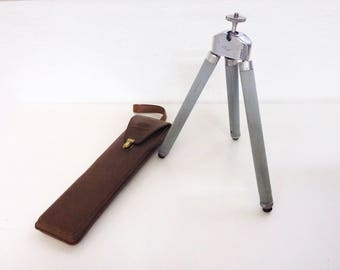 Vintage SUSIS Trendy Pestle Blue Tripod, West Germany Travel Collapsible Telescoping w/Case