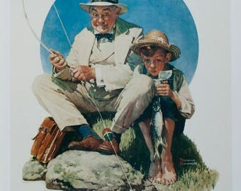 Norman Rockwell-Catching the Big One-1993 Poster