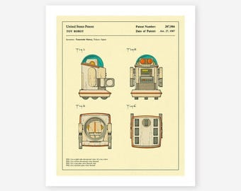 ROBOT PATENT 1987 (Giclée Fine Art Print, Photo Print or Poster Print) Omnibot