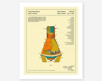 SPACE CAPSULE 1963 (Giclée Fine Art Print/Photo Print/Poster Print)