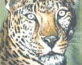 Sheba The Leopard Counted Cross Stitch Chart Pattern