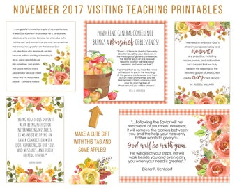 November 2017 Visiting Teaching Message Printable Instant Download - LDS - Mormon - VT Message