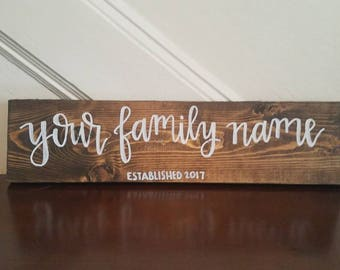 Family established signs // Family name signs