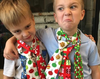 Boys christmas tie | Etsy