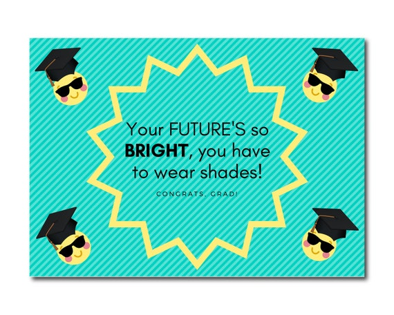 Graduation Card 5 X 7 Printable Grad Instant Download