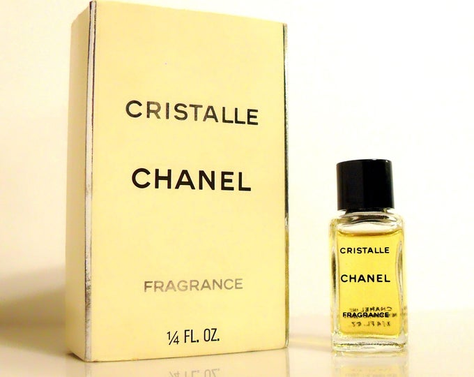 Vintage 1990s Cristalle by Chanel 0.25 oz Fragrance Splash Mini Perfume Miniature and Box