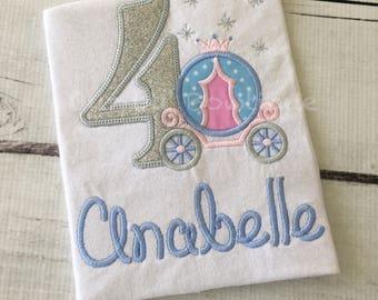 Princess Carriage Birthday Shirt - Royal Carriage Shirt - Princess Birthday - Girls Birthday Shirt - Personalized Birthday Shirt