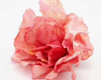 AS-IS Salmon Pink Rose | Millinery Flowers | Wreath Supplies | Hair Accessory | Large Flower Blossom | Floral Crafts | The Blue Hutch R22