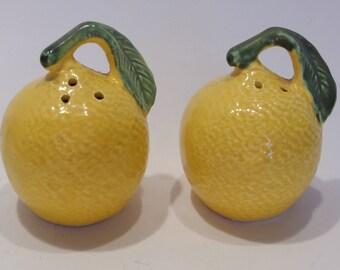 Lemon Vintage Fruit Collectible Salt and Pepper Shakers