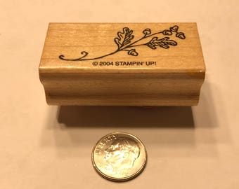 small fall twig rubber stamp, 15 x 40 mm (BB1/2)