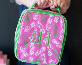 Pineapple Lunch Box, Personalized Lunch Box, Cute Lunch Box, Free Monogramming