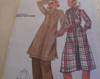 Vintage 1970's Butterick 5091 Jones New York Dress and Tunic Sewing Pattern Size 14 Bust 36