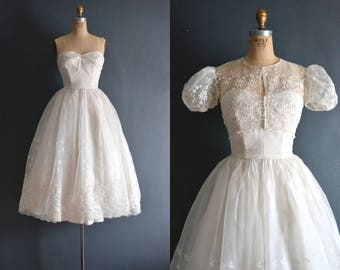 Bridget / 50s wedding dress / short wedding dress