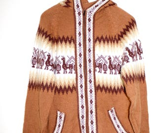 Alpaca Cardigan with Zip and Hood
