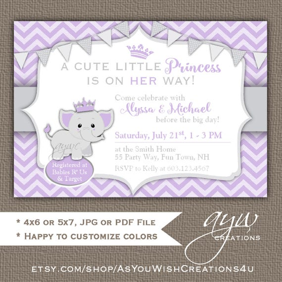 Elephant baby shower invitation girl elephant baby shower il570xn filmwisefo