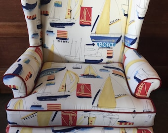 Nautical Wing Back Chair