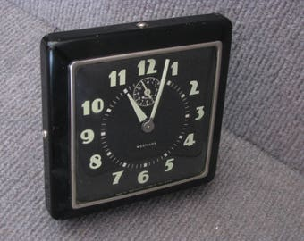 Vintage Westclox Alarm Clock w Glow Dial Made in the USA