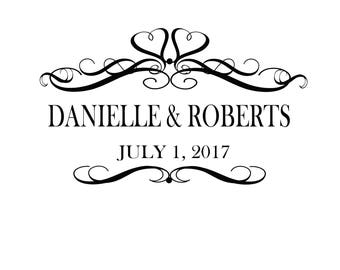 Custom Designed Digital Printable Wedding Monogram Gobo Design. Birthday Monogram