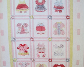 Dimensional Quilt Little Girl Quilt Pearl Louise Designs McCalls Crafts Pattern M6412 Uncut Pattern Factory Fold