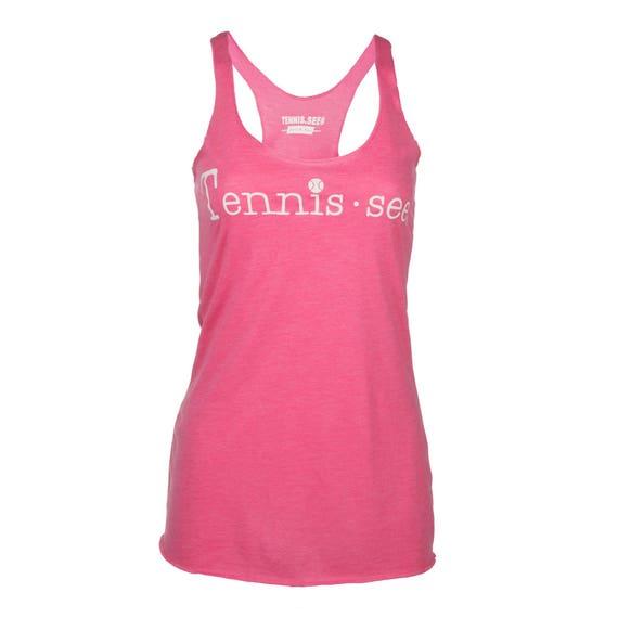 Tennis.see® Tennis Tank Tennessee Tennis.see Tshirt Tee Shirt Womens Hot Pink Tennis Tank Top