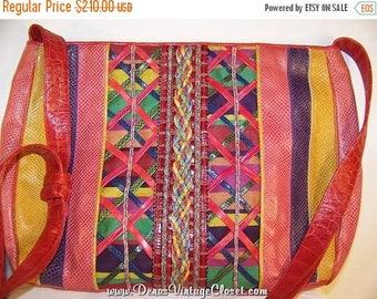 60% OFF Clearance Sale Vintage 80s Sharif Shoulder Bag Purse Vivid Color Leather
