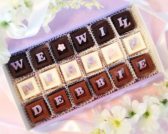 We Will Miss You Chocolates - Personalized Miss You Gift - Goodbye Chocolates - Retirement Gift - Going Away Gift