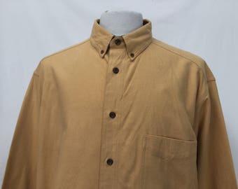 Light Mustard Thick Flannel Shirt