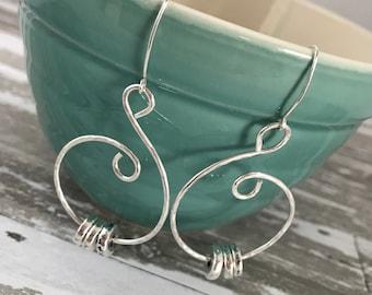 Chloe Silver swirl earrings