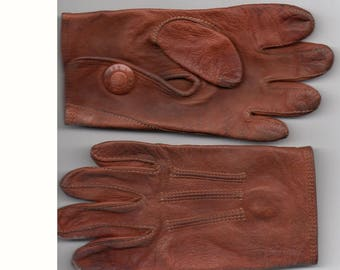 Antique Children's Leather Gloves Myers Made NY