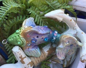 Polymer clay koi fish,handmade,gift ideas,koi,pendant,charm,ornament