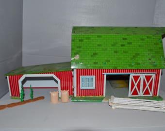 Marx Lazy Day Farm ~ Tin Litho Barn ~ Vintage Marx Toys ~ Farm Toys ~ Epsteam
