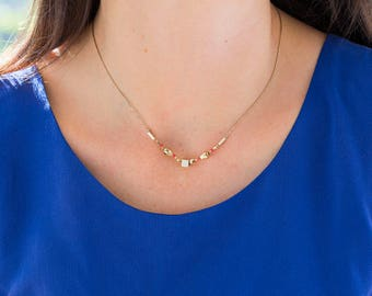 """Gold filled necklace / Collier / Handmade / Delicate minimalist ideal gift - """"Odyssée"""" by Lily Garden"""