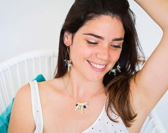 """Gold filled necklace / Collier / Handmade / Chic boho ideal gift - """"Siou"""" by Lily Garden"""