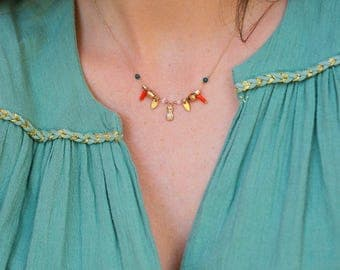 """Gold filled necklace / Collier / Handmade / Delicate ideal gift - """"Lily Charm"""" by Lily Garden"""