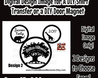 Digital Animal Tree of Life Disney Family Iron On Transfer Image – Animal Kingdom Family Door Magnet Image Matching Family Disney Shirts