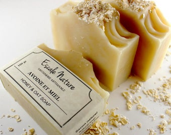 Honey and oat soap, unscented soap, sensitive skin soap, Artisan soap for eczema psoriasis, Olive soap, baby soap, face soap, palm oil free