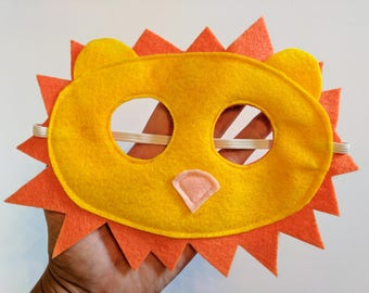 Felt Lion Mask for Kids