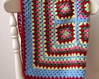Bright Crochet Baby Blanket