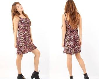 25% OFF Vintage 90s Dress / Floral Dress / Sleeveless Dress / Summer Dress / Beach Dress / CANDA Dress / Mini Dress / Grunge Dress