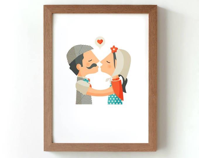 """Ilustración """" Chulapos """"."""