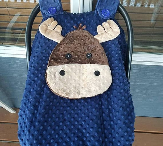 Like this item? & Made To Order Moose Fitted Car Seat Canopy With Peek-ABoo