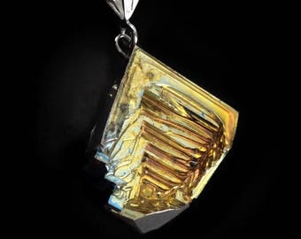 Bismuth Necklace  - Sterling and Bismuth Jewelry by Element83 - Spade Cut - Iridescent Crystal Necklace Jewelry