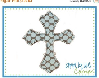 40% OFF Cross Raggy Faith applique digital design for embroidery machine by Applique Corner