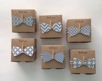 For Nancy: 40 bow tie favor boxes